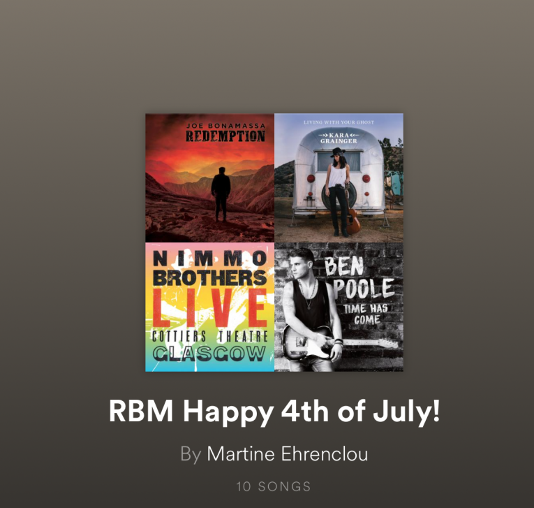 RBM Happy 4th of July Playlist, Rock and Blues Muse
