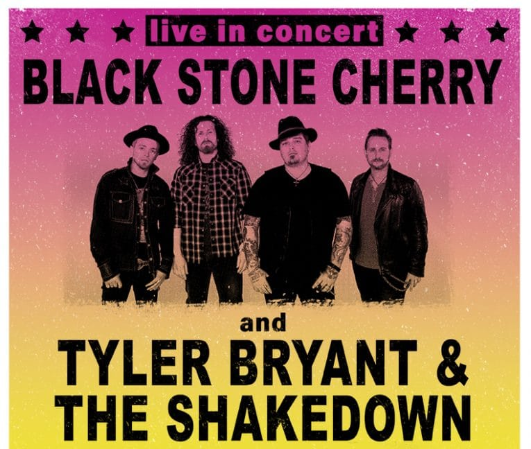 Black Stone Cherry US Tour, Tyler Bryant & The Shakedown, Rock and Blues Muse