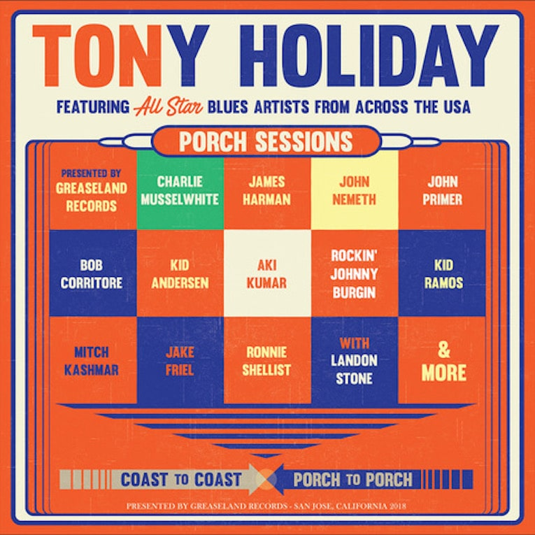 Review, Tony Holiday, Porch Sessions, Mike O'Cull, Rock and Blues Muse