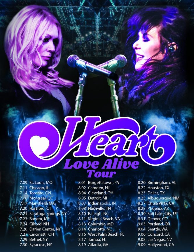 Heart Tour 2019, Love Alive Tour, Ann and Nancy Wilson, Rock and Blues Muse