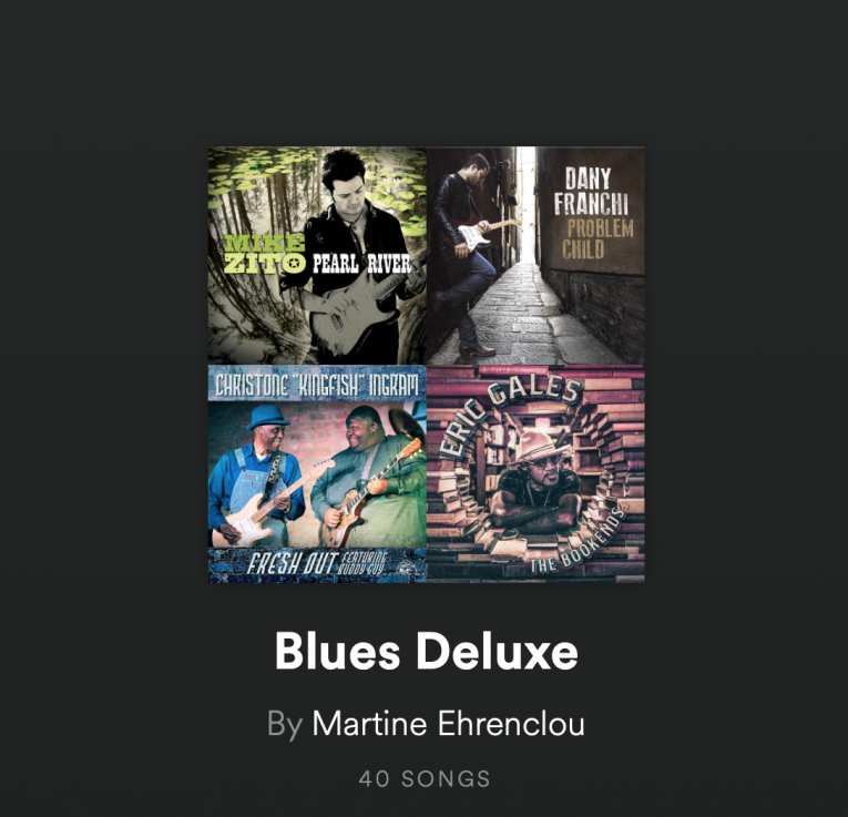 Blues Deluxe Playlist, Rock and Blues Muse, Martine Ehrenclou