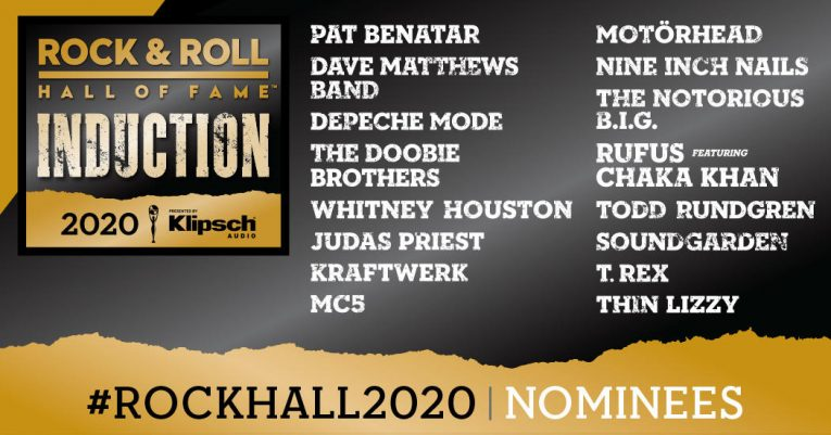 Rock & Roll Hall of Fame 2020 Nominees announcement, 16 nominees, Rock and Blues Muse