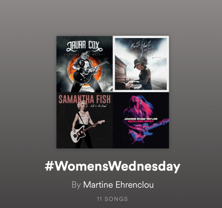 Great Female Rock and Blues Artists, playlist, information, Rock and Blues Muse, Martine Ehrenclou