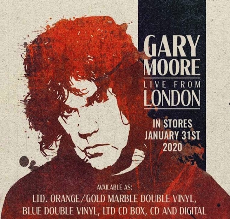 Gary Moore, Live From London, out Jan. 31, 2020, Rock and Blues Muse