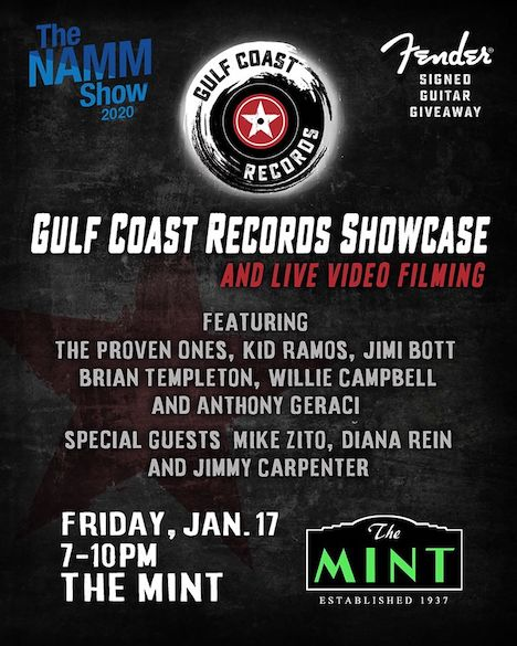 Gulf Coast Records Showcase, The Mint, Jan. 17, Rock and Blues Muse