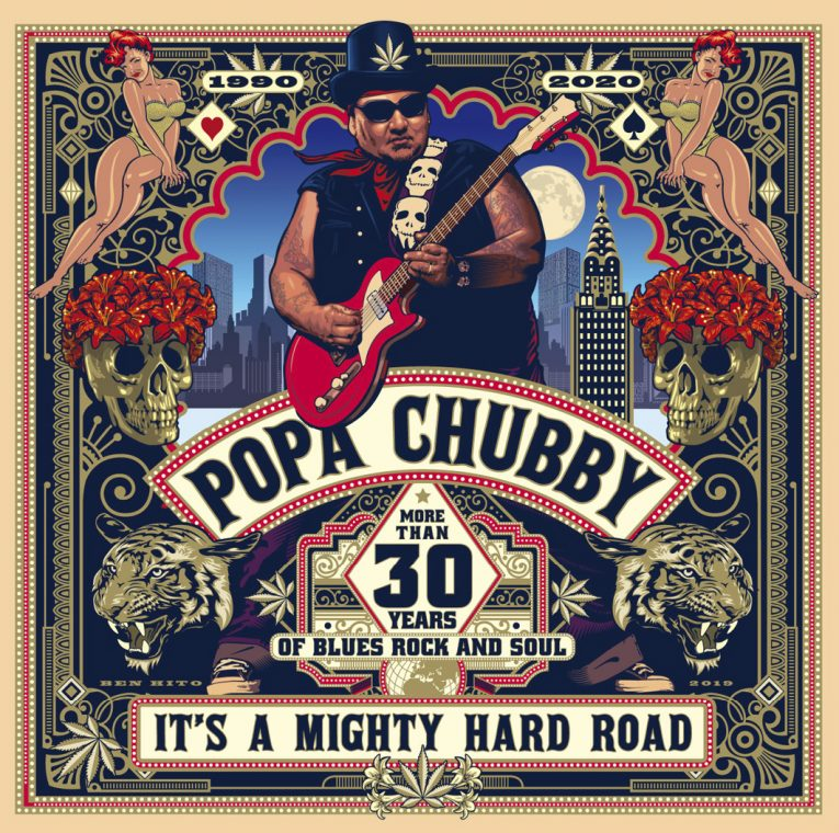 Popa Chubby, It's A Mighty Hard Road, album review, Rock and Blues Muse