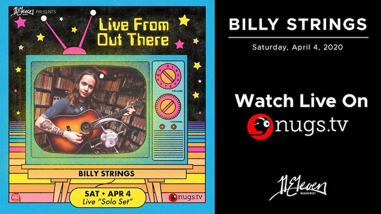 Billy Strings, Live From Out There Virtual Festival, 2 Hour Long Solo Set, Saturday April 4th, Rock and Blues Muse