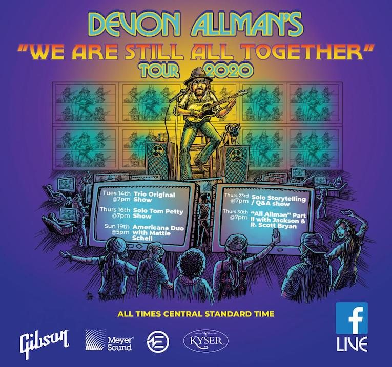 """Devon Allman Announces New Dates For The """"We Are Still All Together Tour 2020, live stream, Rock and Blues Muse"""