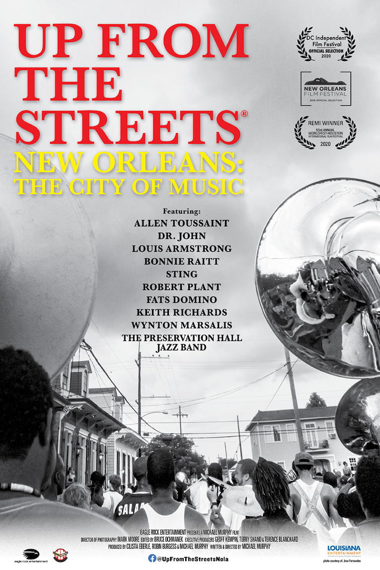 Virtual cinema release, New Orleans documentary, Up From The Streets: New Orleans The City of Music, starts May 15, Rock and Blues Muse