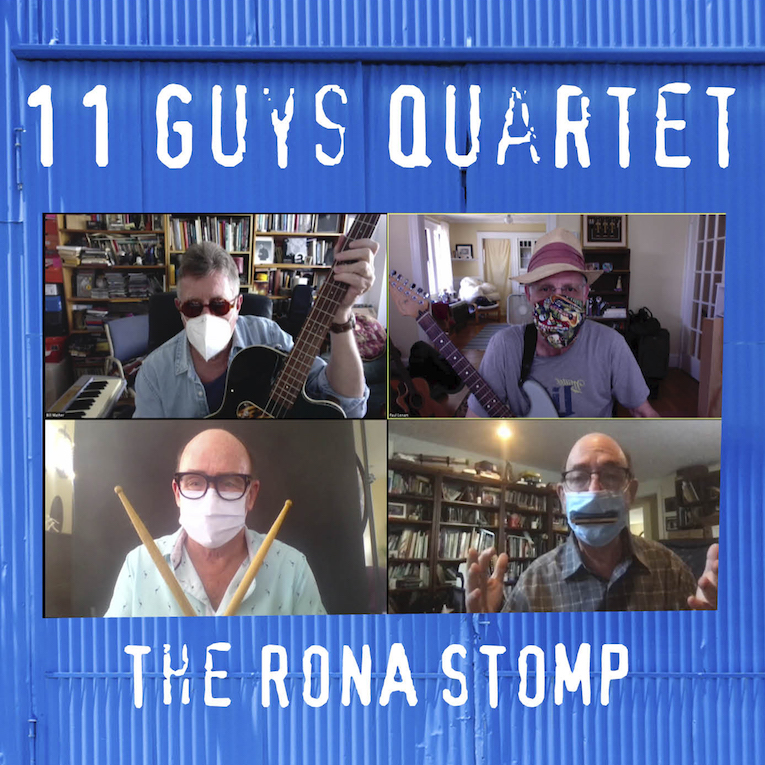 Video premiere, The Rona Stomp, 11 Guys Quartet, blues instrumental, Rock and Blues Muse
