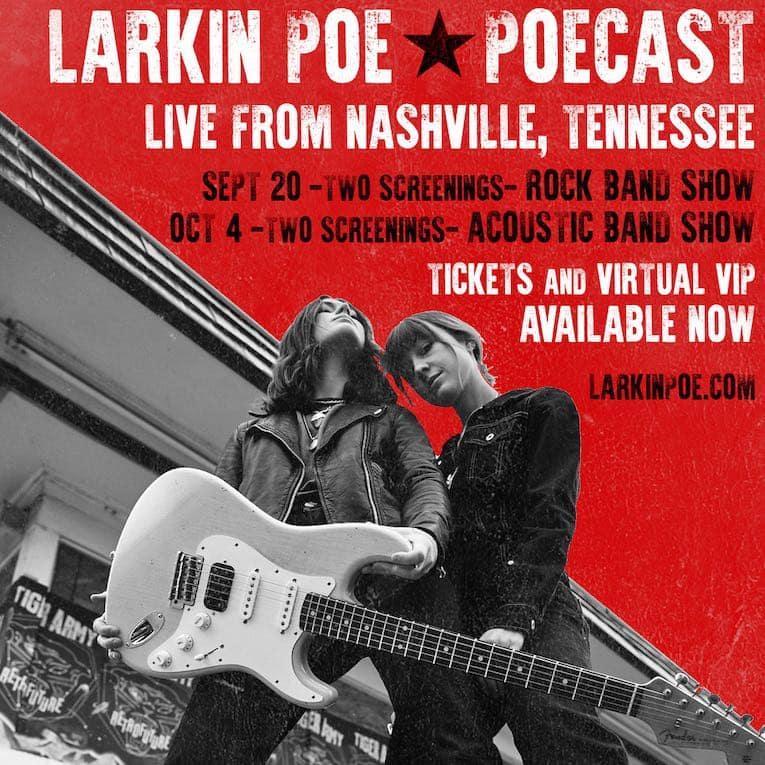 Larkin Poe Live Stream Shows graphic image