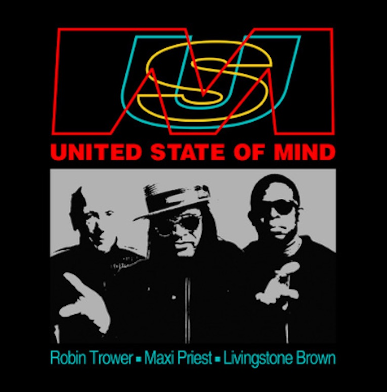 Robin Trower Maxi Priest Livingstone Brown New Single 'United State of Mind' album cover