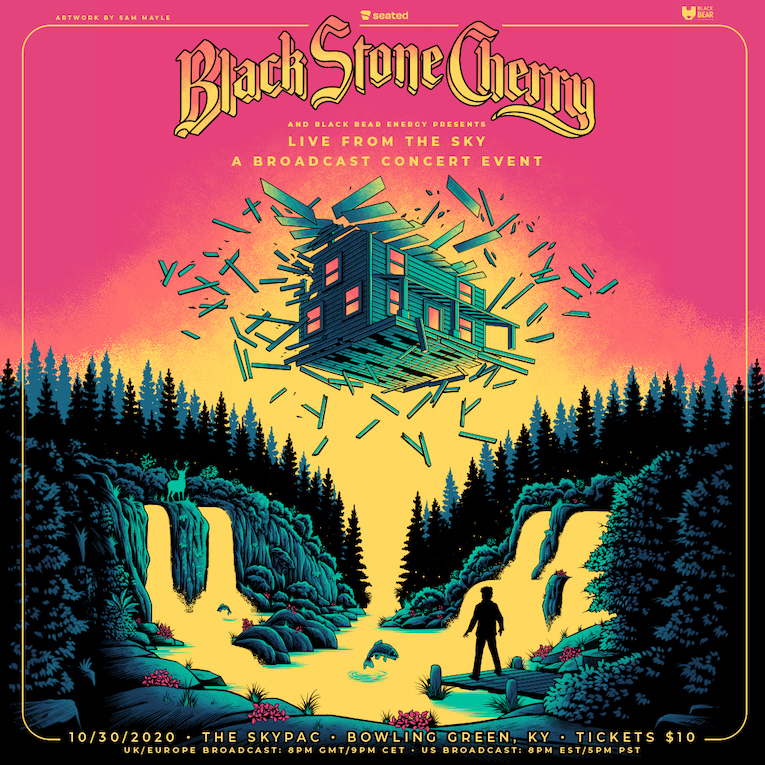 Black Stone Cherry Live From The Sky livestream event flyer cover