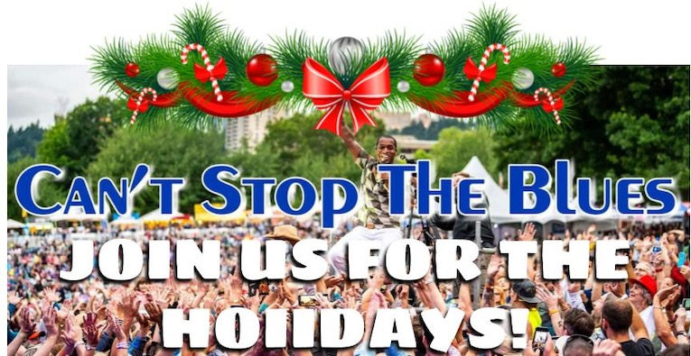 'Can't Stop the Blues' Holiday Livestream Shows flyer