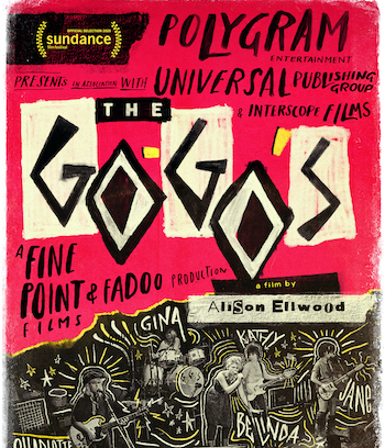 The Go-Gos music documentary flyer
