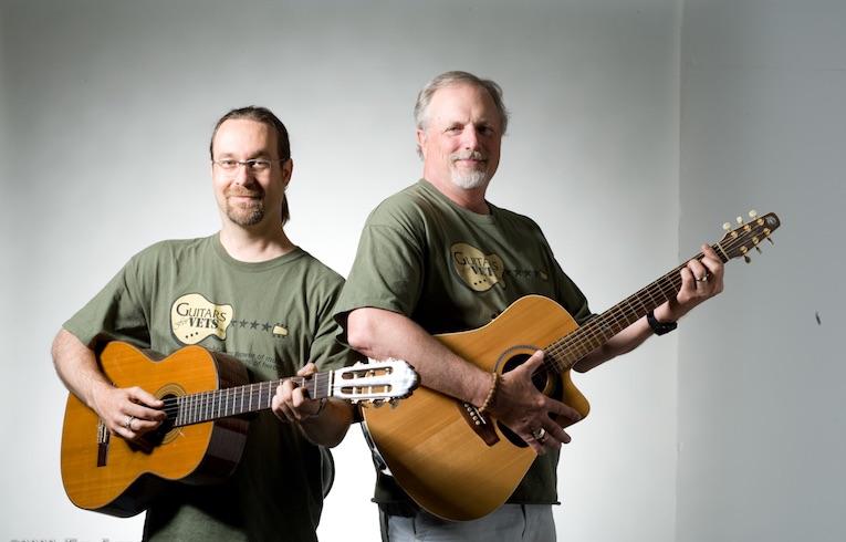 Patrick Nettesheim Dan Van Buskirk Guitars for Vets photo