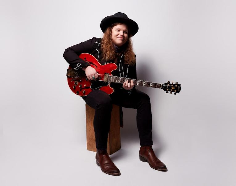 Marcus King with his Marcus King 1962 Gibson ES-345 guitar photo