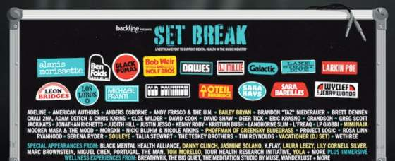 Backline Announces 'Set Break' Livestream Event April 10 to Support Mental Health in Music Industry