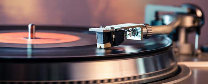 Vinyl record turntable photo