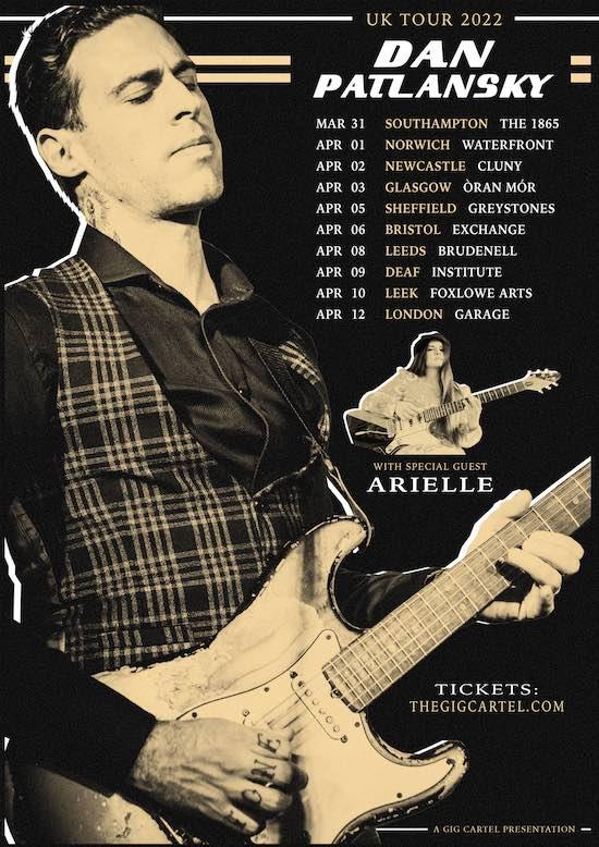 Dan Patlansky UK 2020 March April tour tour poster